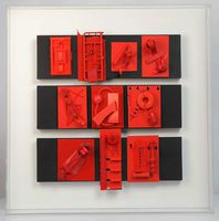 Mad collection rouge 70x70x10cm 2013 b t